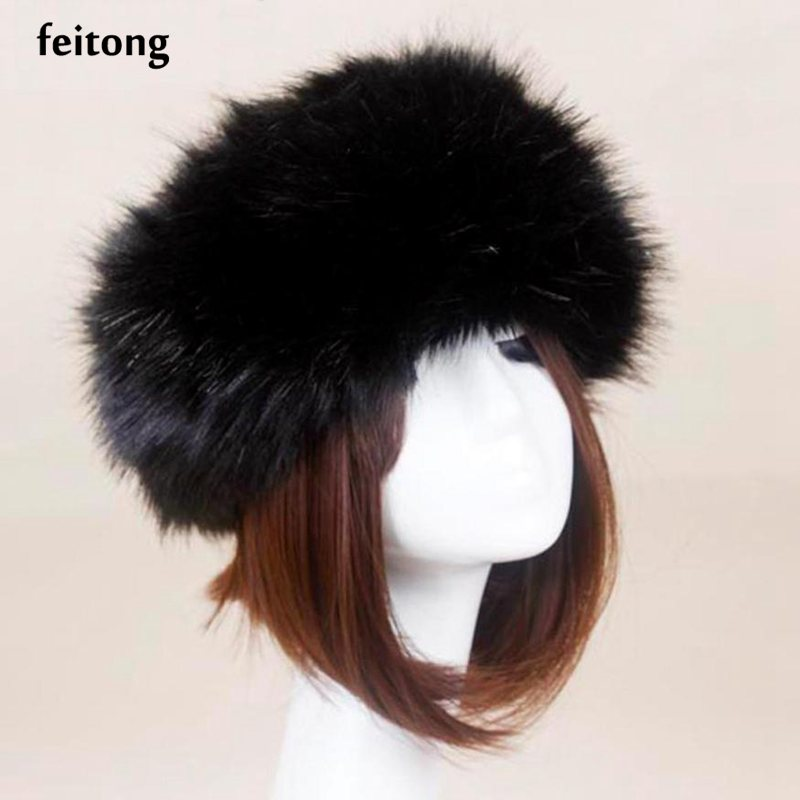 Feitong Hot Faux Fur Winter Hat Male Cap Men Women Hat Fashion Solid Warm Soft Beanies Bonnet Cappelli Inverno  Îäåæäà è àêñåññóàðû<br><br><br>Aliexpress