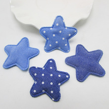 40pcs/lot 4cm Denim star Kawaii Kids Patch, padded applique for Decoration, Clothing, DIY, Baby Garment Accessorie