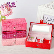 Novelty Fashion Mini Creative Women's Leather Jewelry Boxes, Cosmetic Bags, Stud Earrings Gift Box Creative Jewelry Display(China)