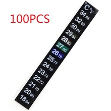 100 X Aquarium Fish Tank Thermometer Temperature Sticker Stick-on Fahrenheit Dual Scale Liquid Digital Adhesive Strip termometro