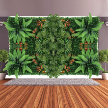Hoomall 1Pc Wall Decoration Artificial Flower Green Grass Carpet Turf Plant Garden Ornament Plastic Balcony Fence For Home Decor(China)