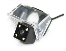 Highest nightvision 4led CCD HD Special Car Rear View Camera reversing rearview parking camera for TOYOTA COROLLA/VIOS(China)
