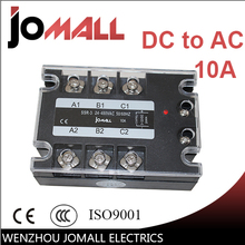 10A DC control AC SSR three phase Solid state relay(China)