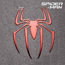 1 Pcs Hot Spiderman Reactor Metal Stickers 3D Spider Metal Sticker Phone Stickers Car Computer Mobile Cell Phone Sticker