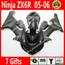 Free custom Fairings for Motorcycle 2005 2006 Kawasaki zx6r 05 06 Ninja 636 new black fairing kits NEW HOT NU78(China)
