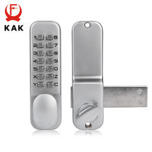 KAK Zinc Alloy Keyless Combination Mechanical Digital Door Lock No Power Push Button Code Locks For Home Furniture Hardware(China)