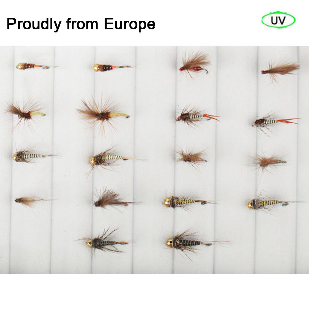 Best Sale Quality Riverruns 18 Competition Flies Trout UV Flies Nymph Flies Fly Fishing Flies New<br>
