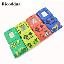 New Childhood Classic Tetris Game Hand Held Electronic Game Toys Fun Brick Game Riddle Handheld Game Console For Kids Best Gifts(China)
