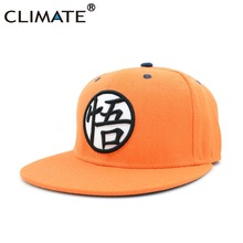 CLIMATE 2017 New Dragon Ball Kakarotto Orange Flat Snapback HipHop Caps Hat Unisex Youth Adult Men Son Goku Dancer Snapback Caps