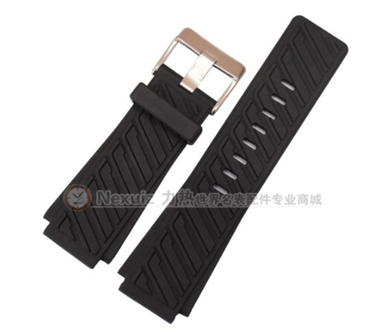30mm(lug 22mm) TOP Rubber Watchbands Waterproof Silicone Diving Sports watch straps Black for DZWB0001 DZ4243N  Free Shipping<br><br>Aliexpress