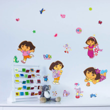 DIY Dora Explore Monkey Vinyl Wall Sticker Decals Girl Kids Room Decor A527