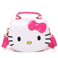 New Girls Cute Shoulder Bag Children Cartoon Hello Kitty Bowknot Handbag Kids Tote Girls Shoulder Bag Mini Bag Wholesale