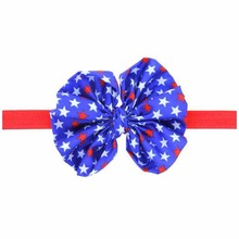 New Design Lovely Child Hairwear Turban Fabric Hairband Bowknot Star Pattern Headband Accessories