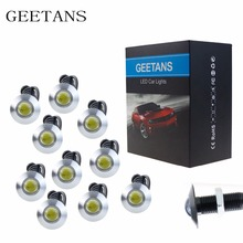 Ultra Thin 10pcs 2.3CM 12V Car led Bright DRL Daytime Running light source waterproof Eagle eye lamp /Parking Warning Light CC