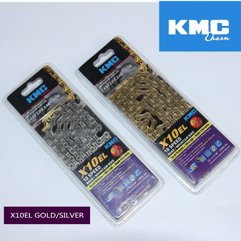 original kmc chain 10 speed x10el gold/silver chain mtb road bicycle chain super light cycling parts x8 x9 x9sl x10el x10sl <br>