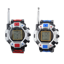 ABWE 2PC Children Toy Walkie Talkie Child Wrist Watches Interphone Outdoor(China)