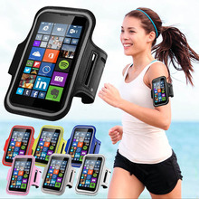 Running arm band Holder case cover for Nokia N 435 530 535 630 635 640 640XL 730 830 930 Microsoft Lumia mobile phone armband