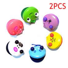 2 Pcs Cartoon Wooden Castanets Baby Children Musical Toys Musical Percussion Educational Instrument 88 M09(China)