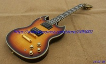 Custom Electric Guitar SG arctop shape,YMH model,gold parts,flame body top .High Quality, Wholesale & Retail, Real photo showing
