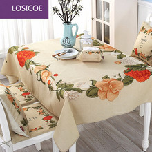 Elegant Beige flower dining table cloth Pillow Cushion tables and chairs bundle chair cover rustic lace cloth set tablecloths