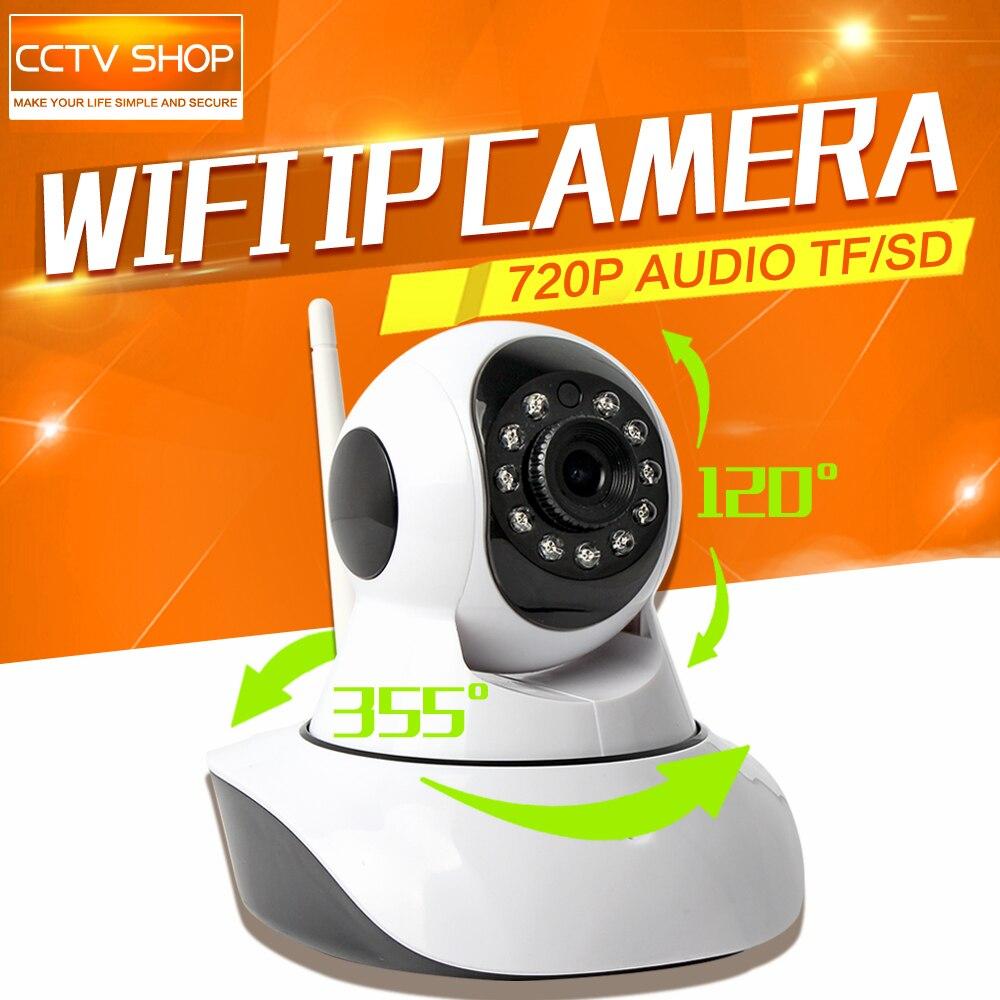 HD 720P PTZ  IP Camera WIFI IR-Cut Night Vision Two Way Audio 1.0MP CCTV Surveillance Cameras Wireless Onvif P2P XMEye Indoor<br>