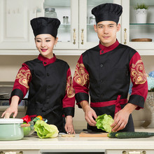 Long Sleeve Chef's Uniform Women Hotel Food Service Chef Jacket Restaurant Chinese Kitchen Overall Men Cook Clothing 18