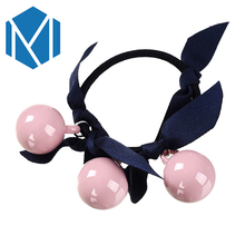 M MISM Girls Ribbon Bow Scrunchy Perfect Quality Elastic Hair Bands Solid Hair Accessories for Women Rubber Bands Fine Ornaments