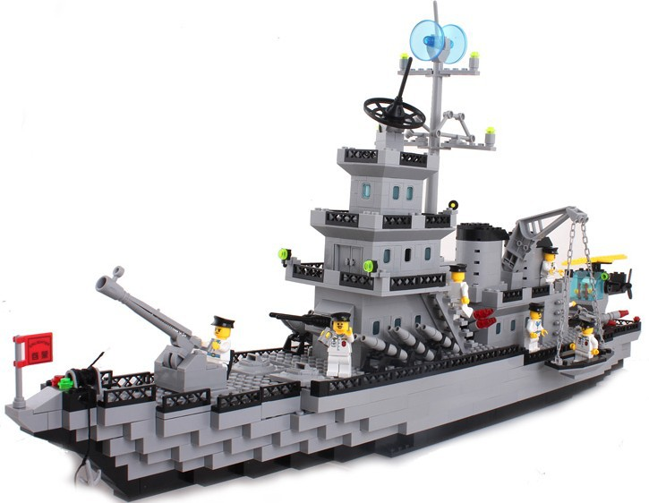 model building kits compatible with lego city warship 614 3D blocks Educational model &amp; building toys hobbies for children<br><br>Aliexpress
