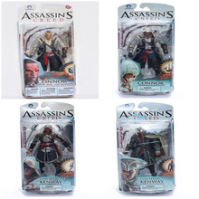 4 Styles Neca Toys Assassins Creed 4 Black Flag PVC Action Figures Toys Edward Kenway Etc Collection Model Free Shipping(China)