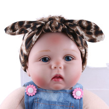 Children Girls Headbands Baby Animal Print Rabbit Ears Bowknot Headwraps Fashion Hair Accessories Kids Turban Knot Hair Bands