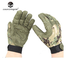 Emersongear Tactical Full Finger Gloves Camouflage Training Gloves Men Airsoft Combat Fishing Hunting Gloves Outdoor Gear EM8718