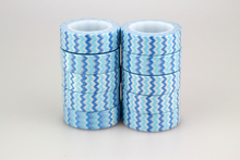 10pcs / Lot Japanese15mm Light Blue and White Stripes Pattern Print Scrapbooking DIY Sticker Decorative Masking t Washi Tape 10m
