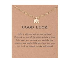 Sparkling lovely little elephant pendant necklace silver and gold color animal elephant clavicle chains necklace fashion jewelry(China)
