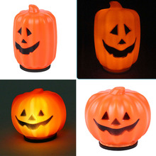 Halloween Carnival Party Jack-O-Lantern Mini  LED Pumpkin Night Light Decoration Props