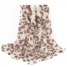 "DaGuanJing Long Scarf Leopard Pattern Printed Infinity Scarves for Women Chunky Cheetah Scarf Size:71""*27.5""inches (180*70cms)(China)"