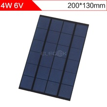 ELEGEEK 4.2W 6V 200*130mm DIY Solar Cell Panel Monocrystalline PET + EVA Laminated Mini Solar Panel for Test and Education