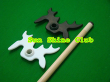 Free shipping!!! 5pcs/lot High quality plastic bat-shape Butt Rest Head Pool Snooker billiard table Stick SPIDER(China)