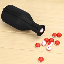 1Pcs Billiard Game Kelly Pool Shaker Bottle with 16 Numbered Tally Balls Peas Snooker & Billiard Accessories Board Game Tool