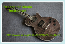 Customed Design China Electric Guitar LP Standard Transparent Grey In Stock For Sale