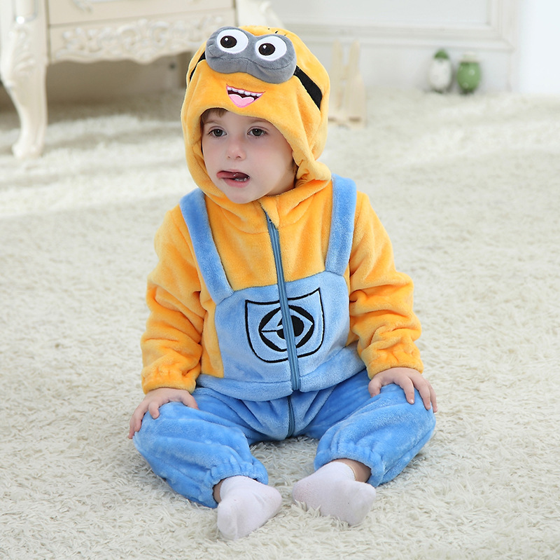 Hot Baby Boy Clothes Cotton Flannel Quilted Jumpsuit Cartoon Animal Yellow Duck Baby Rompers Girl Baby Clothing<br><br>Aliexpress
