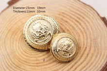 Free shipping,  20PC diameter of 23mm  19mm  gold buttons, clothing accessories, shirt, coat buttons, JS207