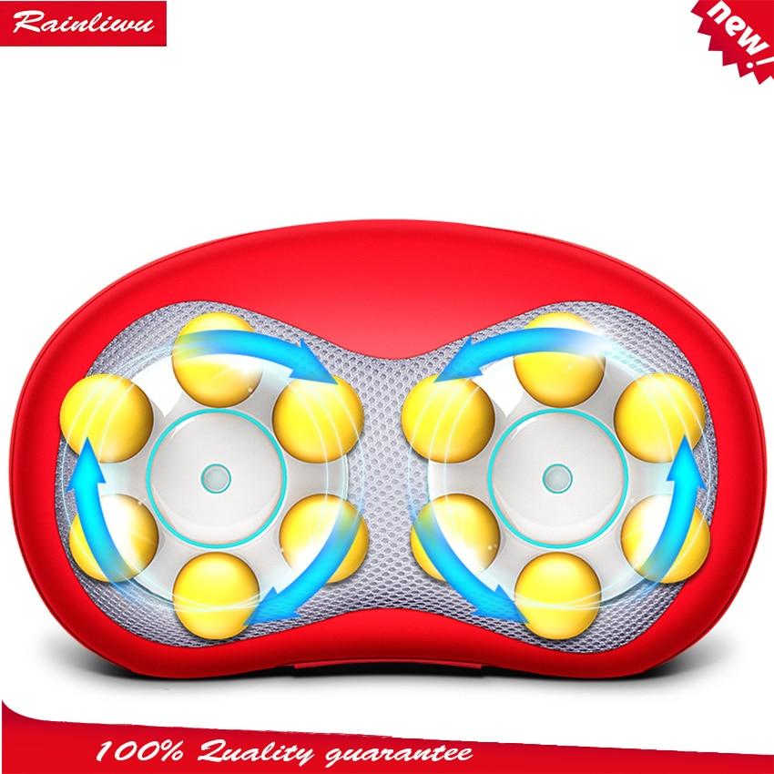 Cervical vertebra massage pillow trainborn household massage device neck full-body multifunctional massage cushion <br>