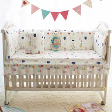 Cute Plant Print Quality Baby Crib Bedding Set Include Sheets and Quilt, Kids Newborn Baby Bed Sets Crib Bumper Infant Cot Set(China)