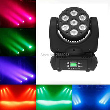 7x12W led moving head linear beam light RGBW 4in1 DMXcontrol moving wash light/led spotlights professional stage dj equipment