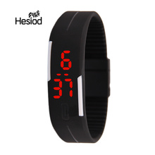 Fashion Digital Watch LED Watch Casual Sport Electronic Wrist Watch Kids Men Soft Strap Candy Color Watches