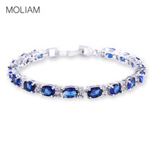 MOLIAM Bracelets & Bangles 2016 New Designer Bracelet Fashion AAA Cubic Zircon Bangles Jewelry for Women MLL120(China)