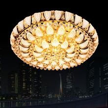 manufacturers gold crystal lamp creative small leaves the living room ceiling lamps LED lampada led chandelier free shipping