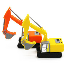 New excavator model usb flash drive pen drive excavators special truck pendrive 4gb 8gb 16gb 32gb 64gb memory stick U disk gift