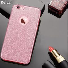 Buy Kerzzil 8 Colors 3 1 Bling Card+PC Hard Case iPhone 7 6 6S Plus Clear Candy Shining Glitter Back Cover iPhone 6 7 6S for $3.74 in AliExpress store