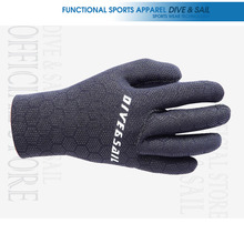 DIVE & SAIL 3mm Neoprene Diving Gloves Comfortable anti-skid gloves anti scratch equipment sponge+ nylon Material(China)